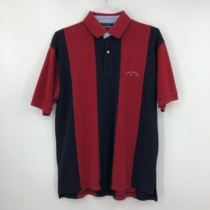 TOMMY HILFIGER Vintage Polo Shirt Colorblock Retro